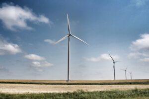 Wind turbine in rural community