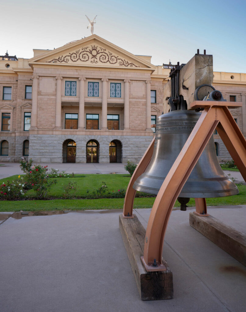 Arizona state capitol and bell
