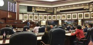 Interior of the Florida state legislature chamber
