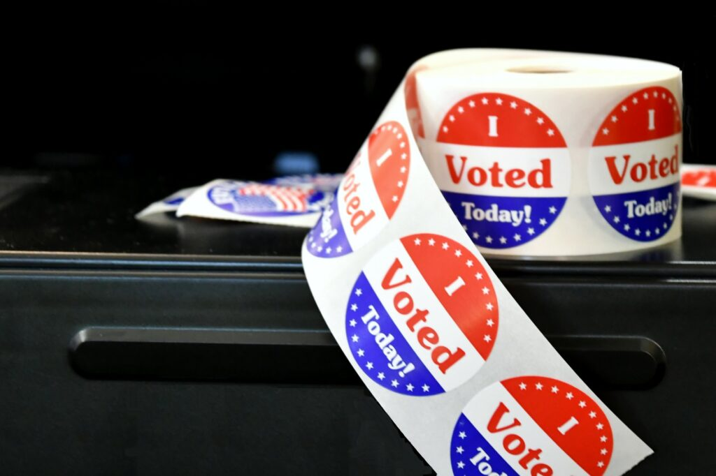 """""""i voted today"""" sticker roll"""