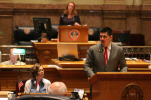 Jessie Ulibarri speaking in the Colorado State Senate