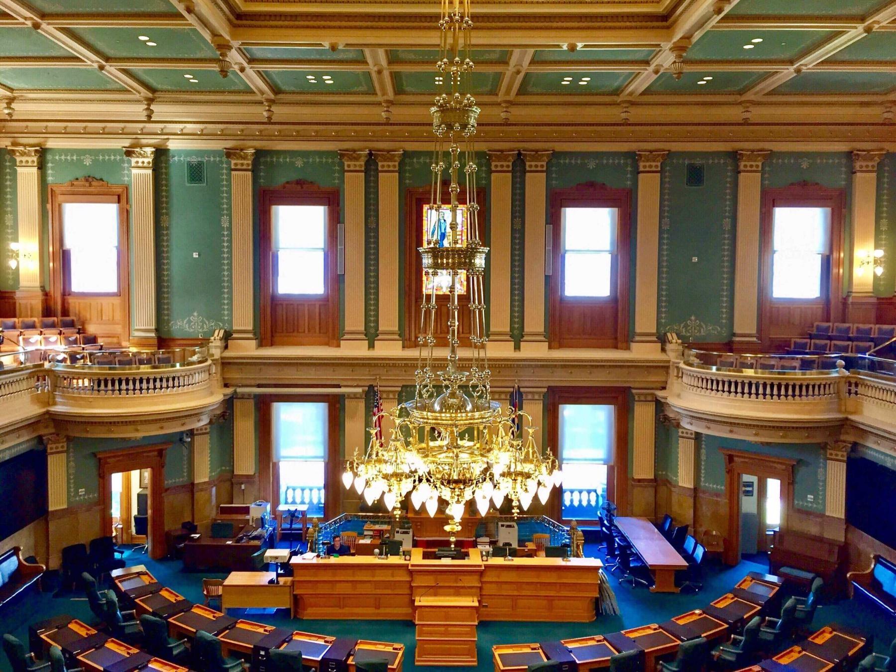 Interior of the colorado state legislature chamber