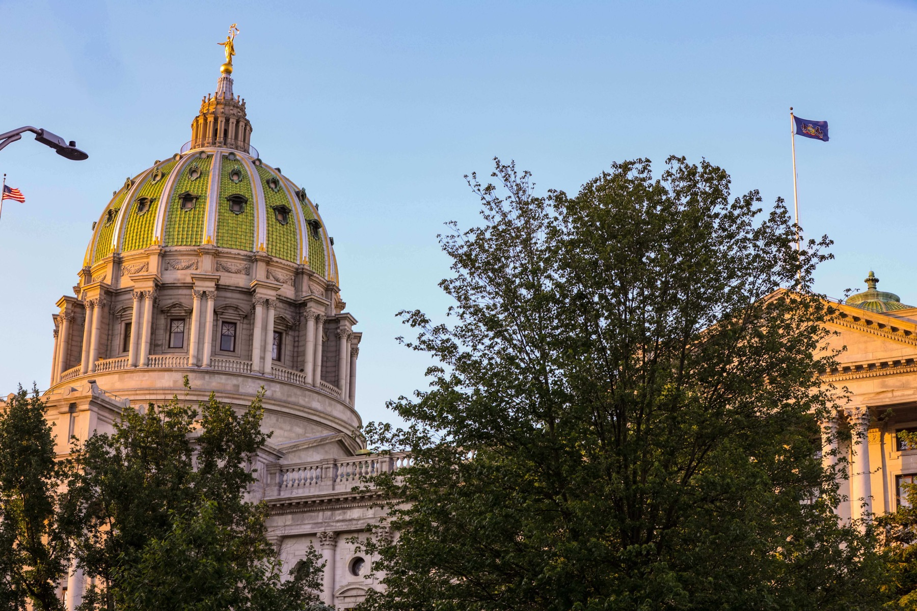 Exterior of the Pennsylvania state capitol building