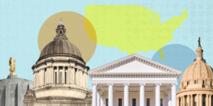 Multiple statehouses collaged
