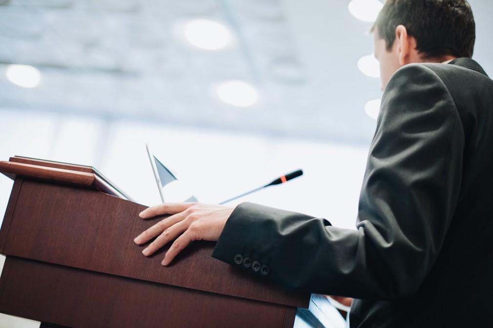 Person at podium
