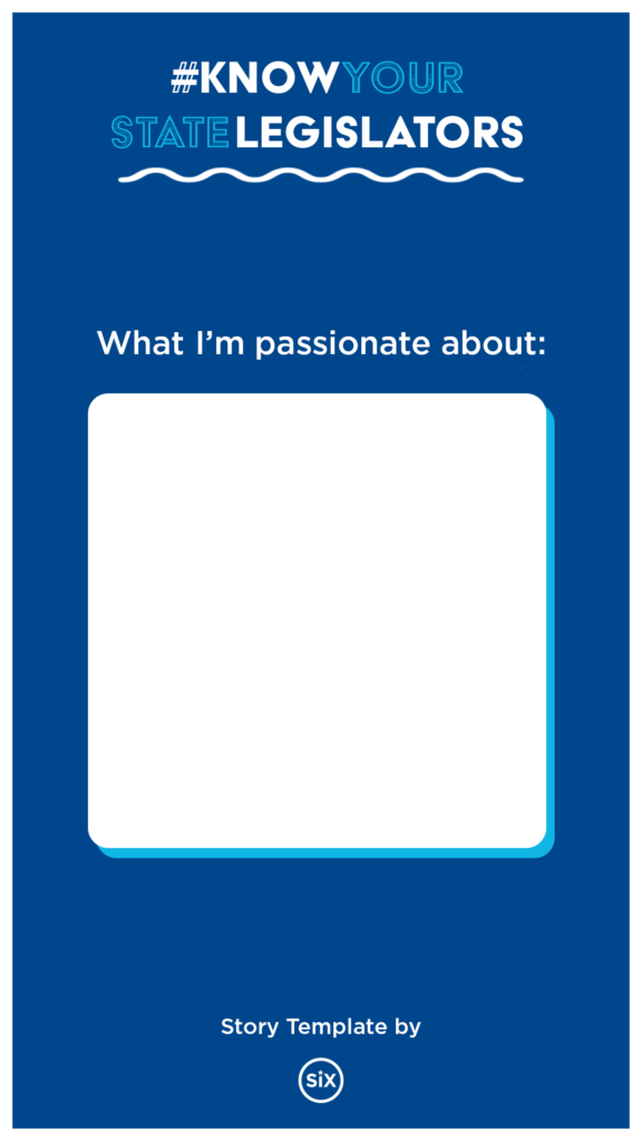 """Instagram story template; prompt reads: """"what i'm passionate about"""""""