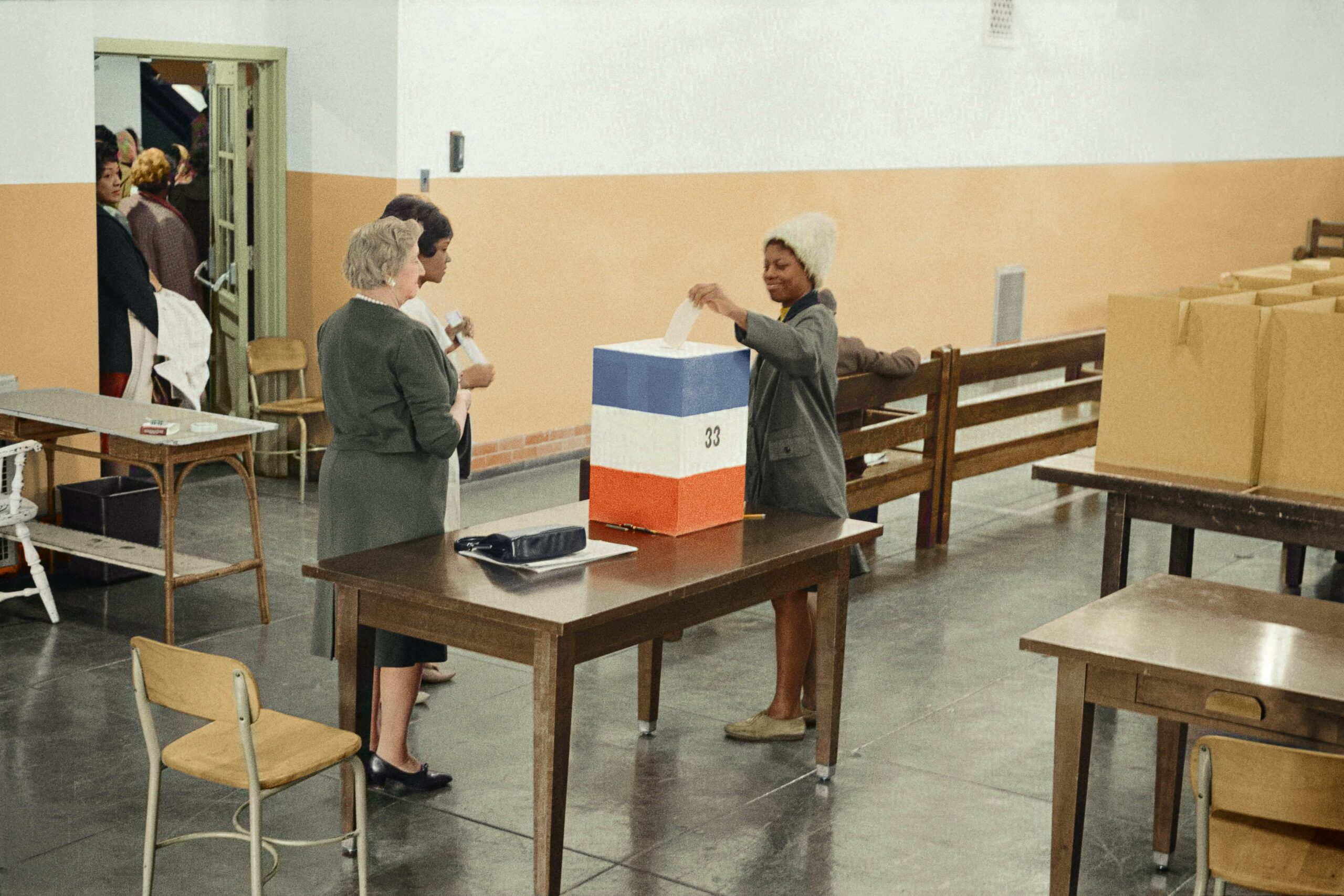 Washington d. C. Voting at high school