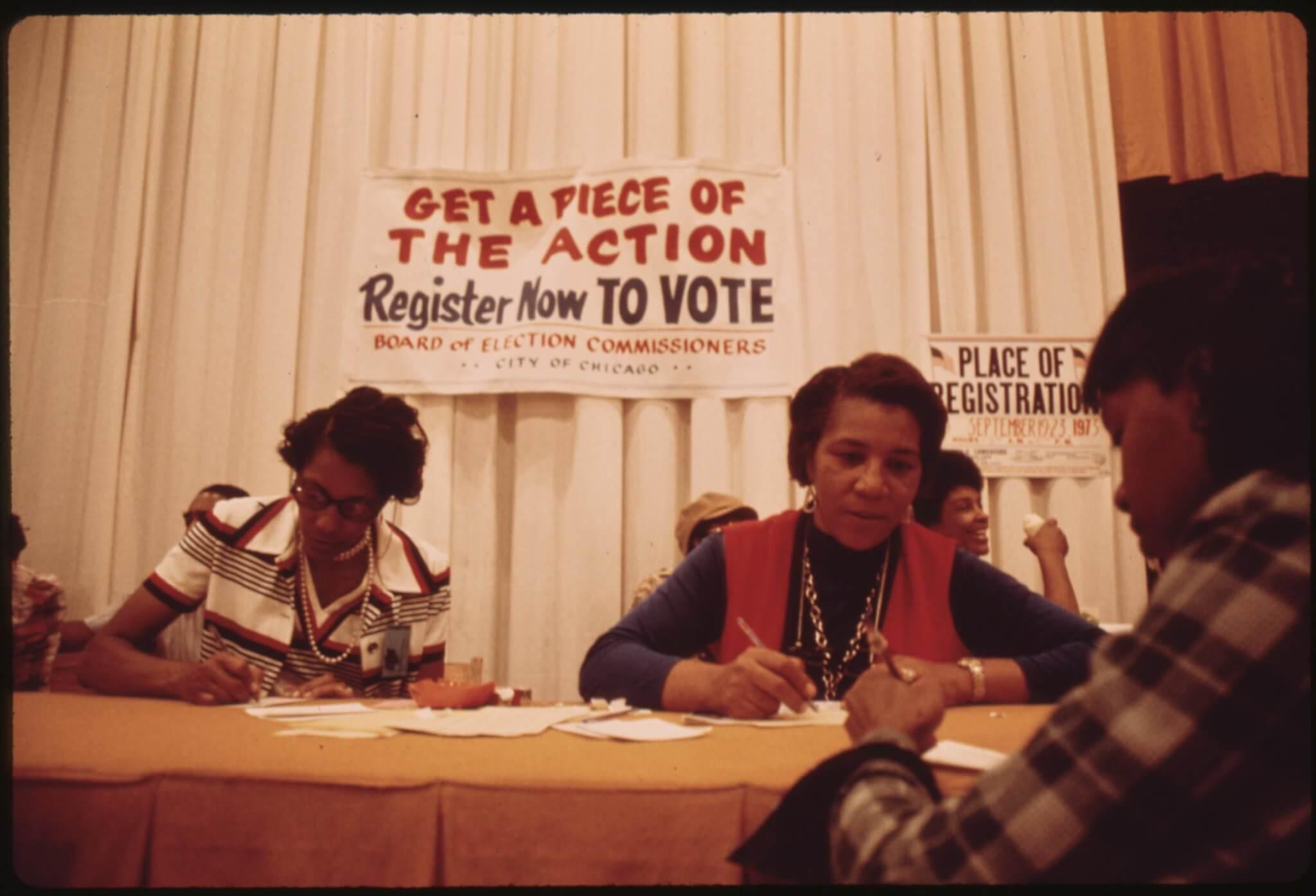 Black expo voter drive